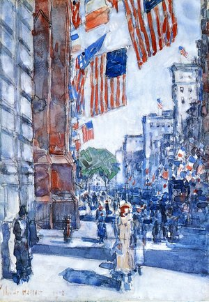 Frederick Childe Hassam The Complete Works The Avenue