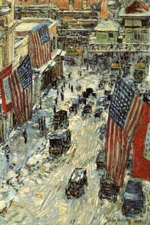 Frederick Childe Hassam - Flags on Fifty-Seventh Street