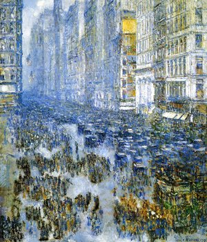 Frederick Childe Hassam - Fifth Avenue in Winter I