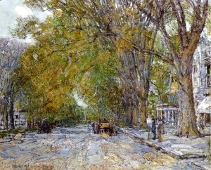 Frederick Childe Hassam - Main Street, East Hampton