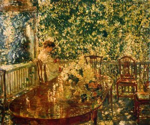 Frederick Childe Hassam - Summer Porch at Mr. and Mrs. C.E.S. Wood's