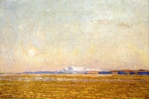 Frederick Childe Hassam - Moonrise at Sunset, Harney Desert