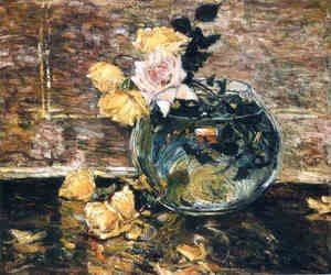 Frederick Childe Hassam - Roses in a Vase