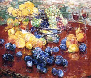 Frederick Childe Hassam - Still Life, Fruits