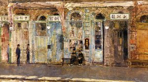 Frederick Childe Hassam - The Chinese Merchants