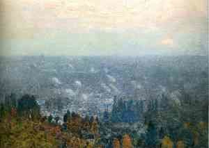 Frederick Childe Hassam - Mount Hood and the Valley of the Willamette
