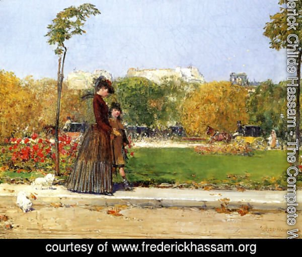 Frederick Childe Hassam - In the Park, Paris