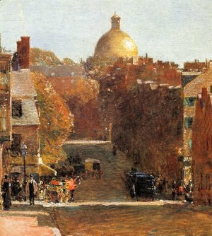 Frederick Childe Hassam - Mount Vernon Street, Boston