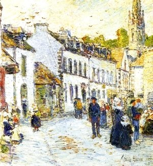 Frederick Childe Hassam - Pont-Aven, Evening