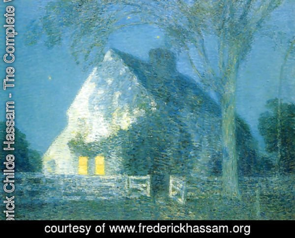 Frederick Childe Hassam - Moolight, the Old House