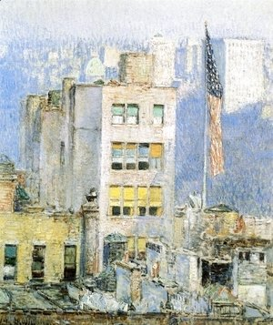 Frederick Childe Hassam - The Flag, Fifth Avenue