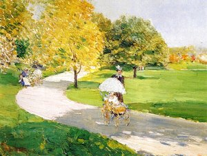 Frederick Childe Hassam - Nurses in the Park