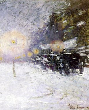 Frederick Childe Hassam - Winter Midnight