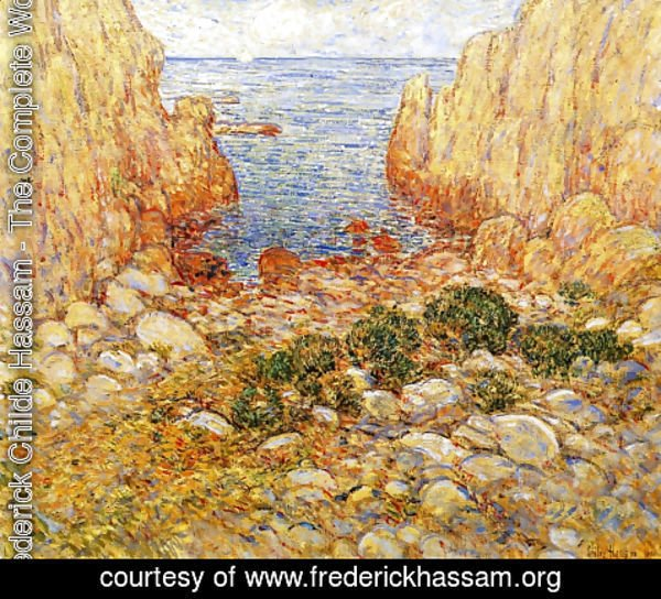 Frederick Childe Hassam - The Gorge - Appledore, Isles of Shoals
