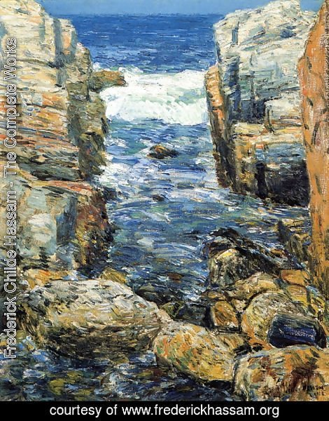 Frederick Childe Hassam - The South Gorge, Appledore, Isles of Shoals