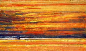 Frederick Childe Hassam - Sailing Vessel at Sea, Sunset
