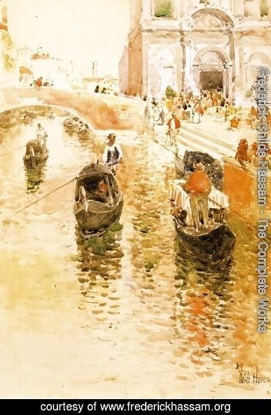 Frederick Childe Hassam - Gondoliers