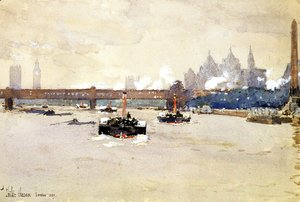 Frederick Childe Hassam - View of the Thames