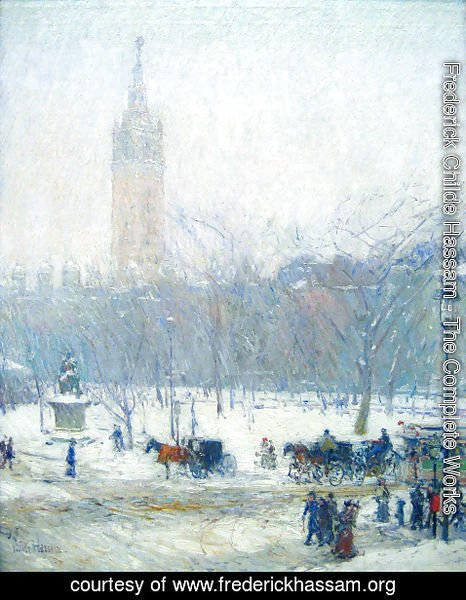 Frederick Childe Hassam - Madison Square - Snowstorm