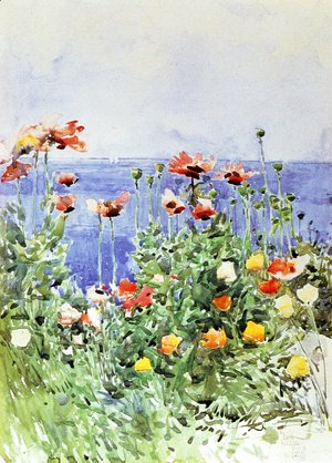 Frederick Childe Hassam - Poppies, Isles of Shoals II