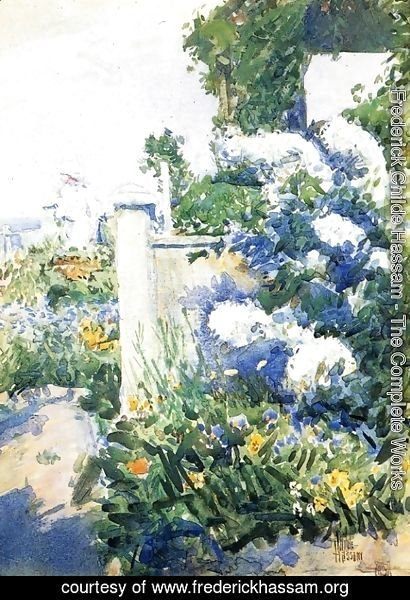 Frederick Childe Hassam - Garden by the Sea, Isles of Shoals