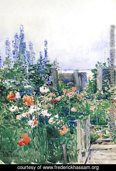 Frederick Childe Hassam - Home of the Hummingbird