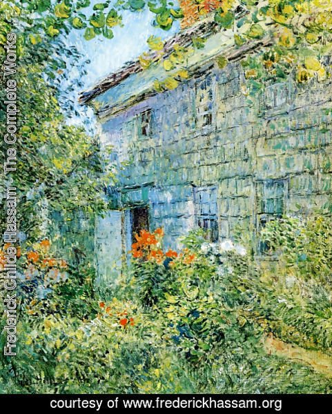Frederick Childe Hassam - Old House and Garden, East Hampton