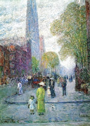 Frederick Childe Hassam - Cathedral Spires, Spring Morning