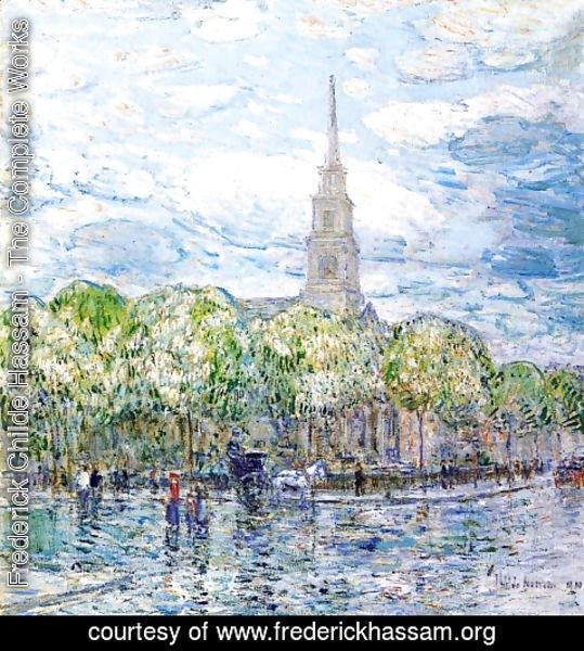 Frederick Childe Hassam - Saint Mark's in the Bowery