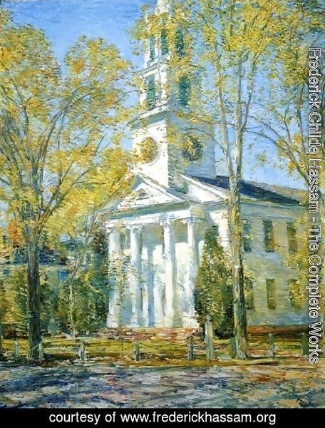 Frederick Childe Hassam - Church at Old Lyme I