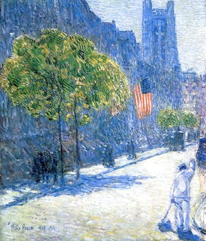Frederick Childe Hassam - Just Off the Avenue, Fifty-Third Stret, May, 1916