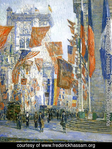 Frederick Childe Hassam - Avenue of the Allies I