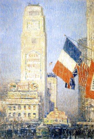 Frederick Childe Hassam - The New York Bouquet, West Forty-Second Street