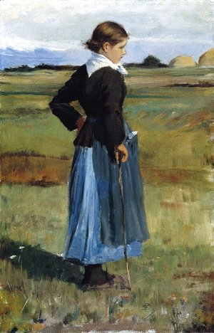 Frederick Childe Hassam - French Peasant Girl