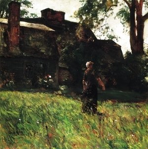 Frederick Childe Hassam - The Old Fairbanks House, Dedham, Massachusetts