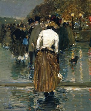 Frederick Childe Hassam - Promenade at Sunset, Paris