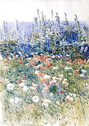 Frederick Childe Hassam - Flower Garden, Isles of Shoals