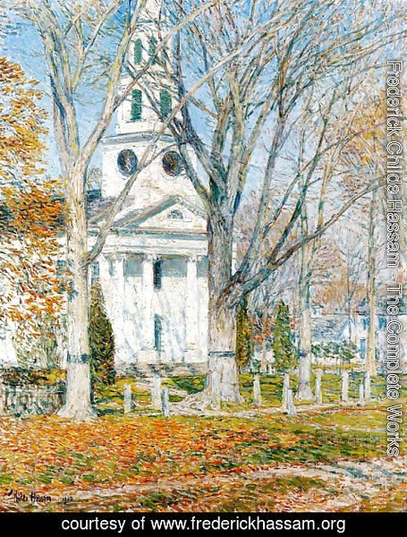 Frederick Childe Hassam - Church at Old Lyme II