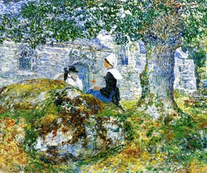 Frederick Childe Hassam - In Brittany Bay