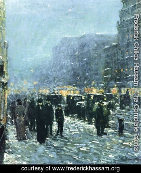 Frederick Childe Hassam - Broadway and 42nd Street
