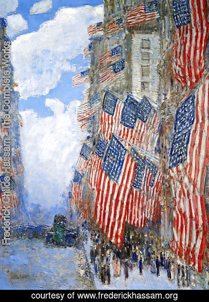 Frederick Childe Hassam - The Fourth of July, 1916