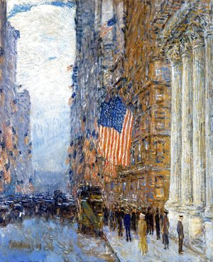 Frederick Childe Hassam - Flags on the Waldorf