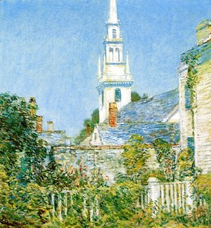 Frederick Childe Hassam - White Church at Newport