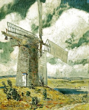 Frederick Childe Hassam - Bending Sail on the Old Mill