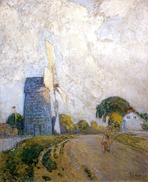Frederick Childe Hassam - Windmill at Sundown, East Hampton