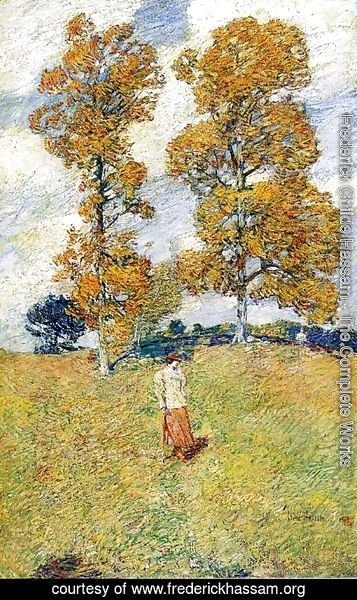 Frederick Childe Hassam - The Two Hickory Trees