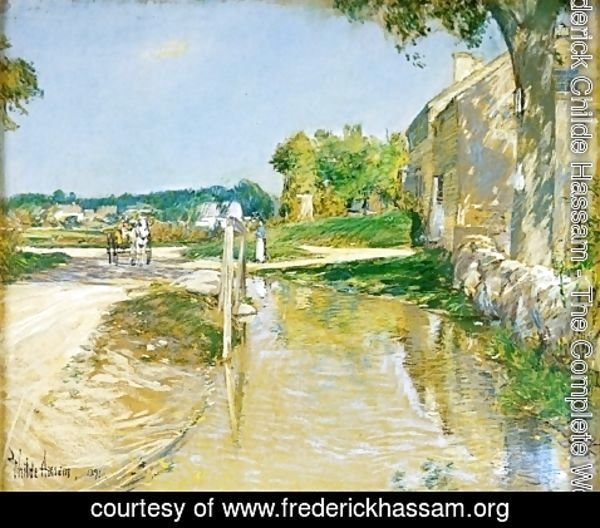 Frederick Childe Hassam - A Country Road
