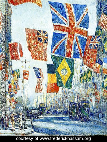 Frederick Childe Hassam - Avenue of the Allies, Great Britain, 1918