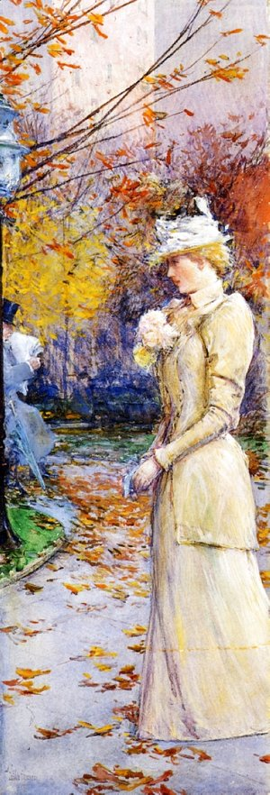 Frederick Childe Hassam - Indian Summer in Madison Square