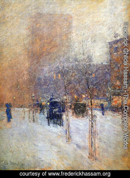 Frederick Childe Hassam - Late Afternoon, New York: Winter
